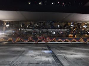 Richmond Theatre: view from stage to fly